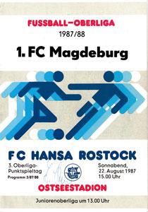 Programm 1987//88 1 FC Lok Leipzig Wismut Aue